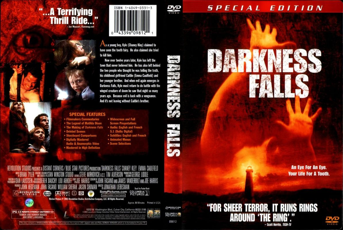 Jaquette DVD Darkness falls Zone 1