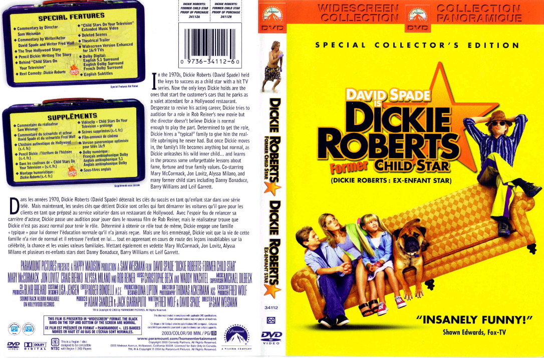 Jaquette DVD Dickie Roberts ex enfant star